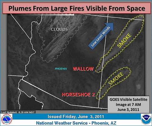Wallo Fire Smoke NOAA